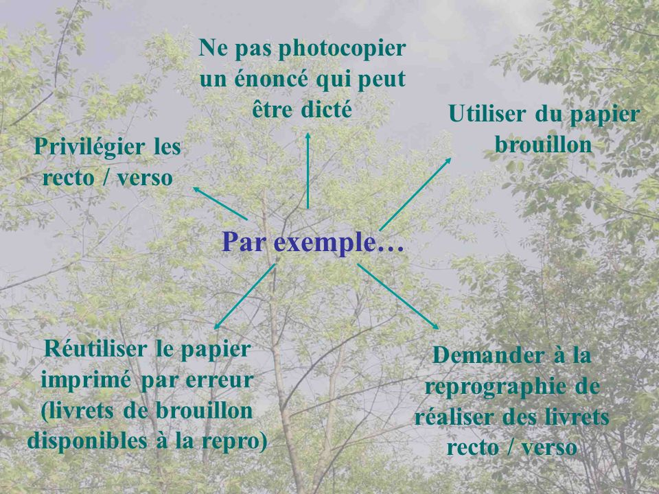 Par exemple… Ne pas photocopier un énoncé qui peut être dicté