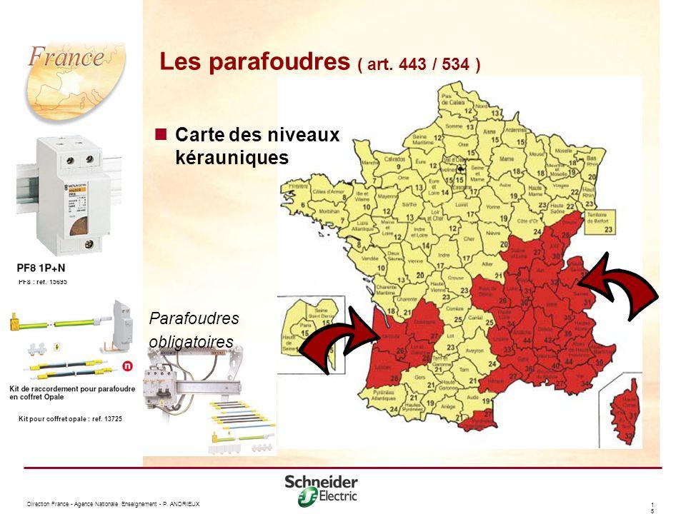 Les parafoudres ( art. 443 / 534 )