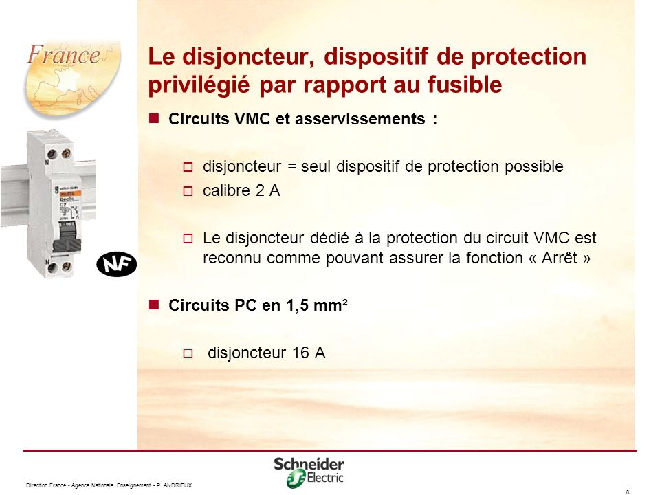 Le disjoncteur, dispositif de protection privilégié par rapport au fusible