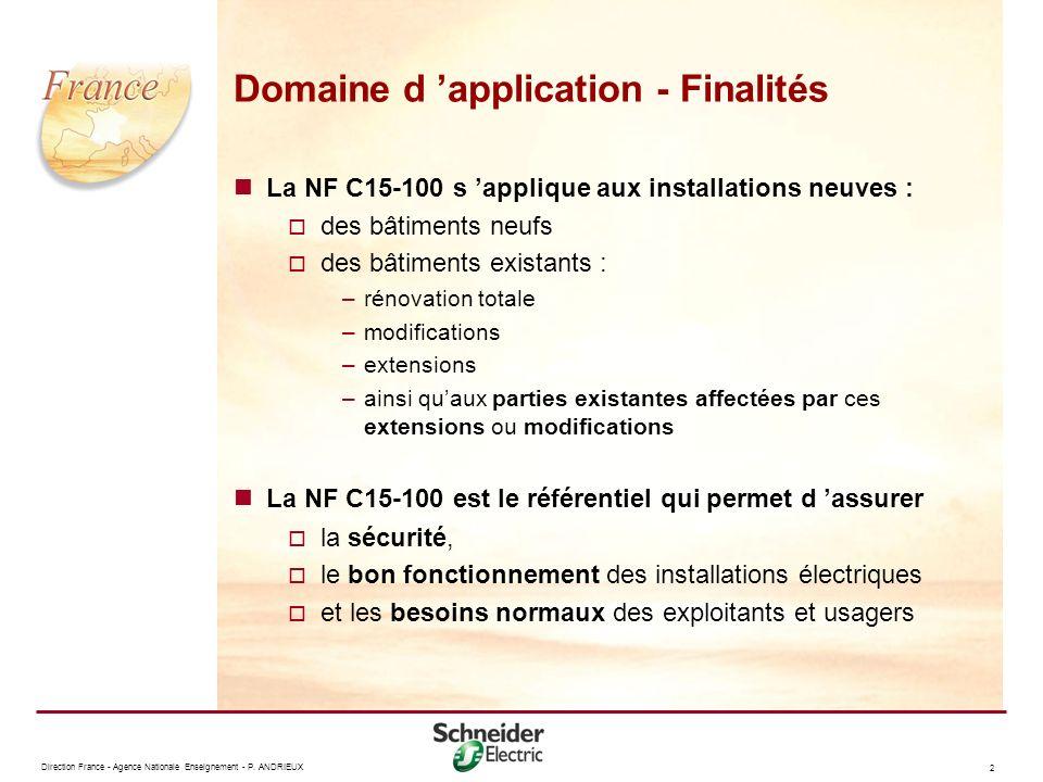 Domaine d 'application - Finalités