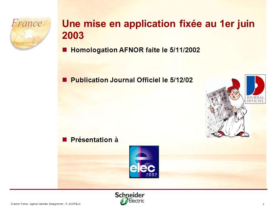 Une mise en application fixée au 1er juin 2003