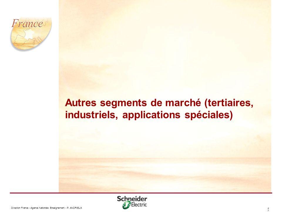 Autres segments de marché (tertiaires, industriels, applications spéciales)