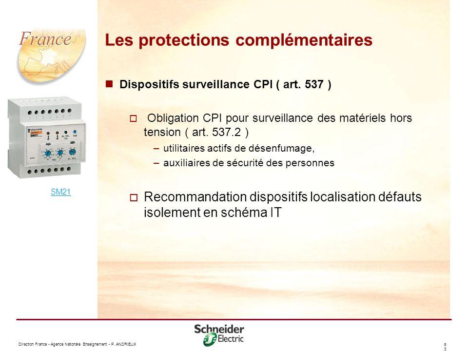 Les protections complémentaires