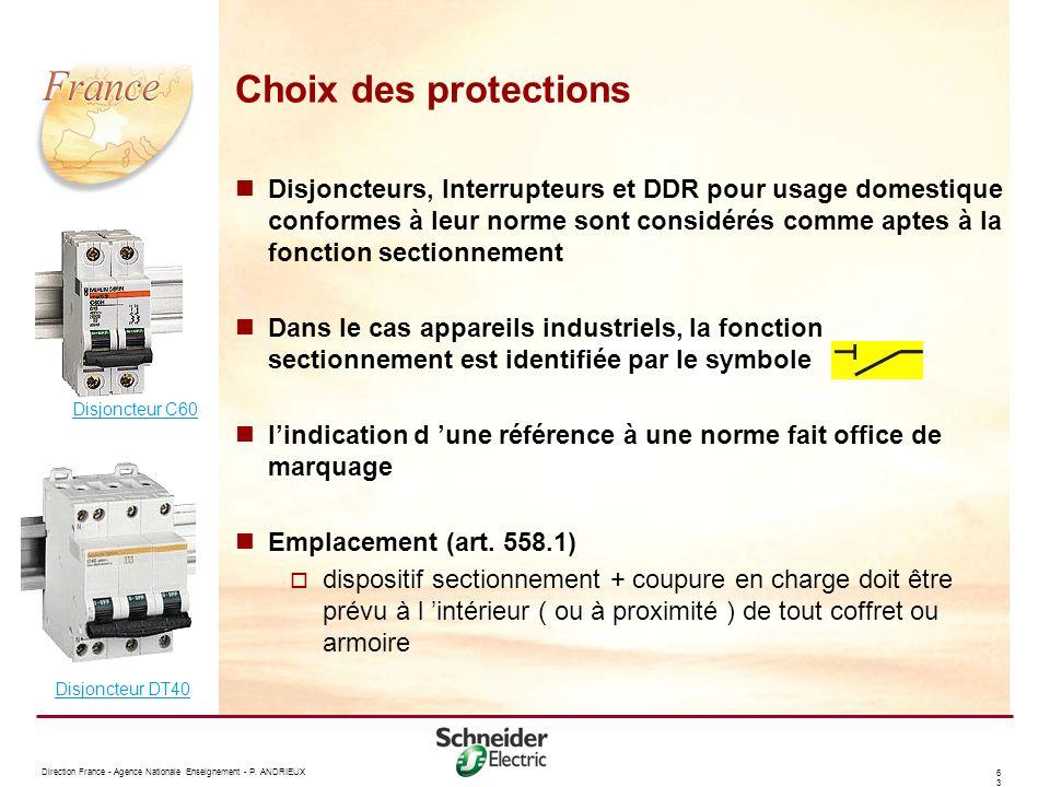 Choix des protections