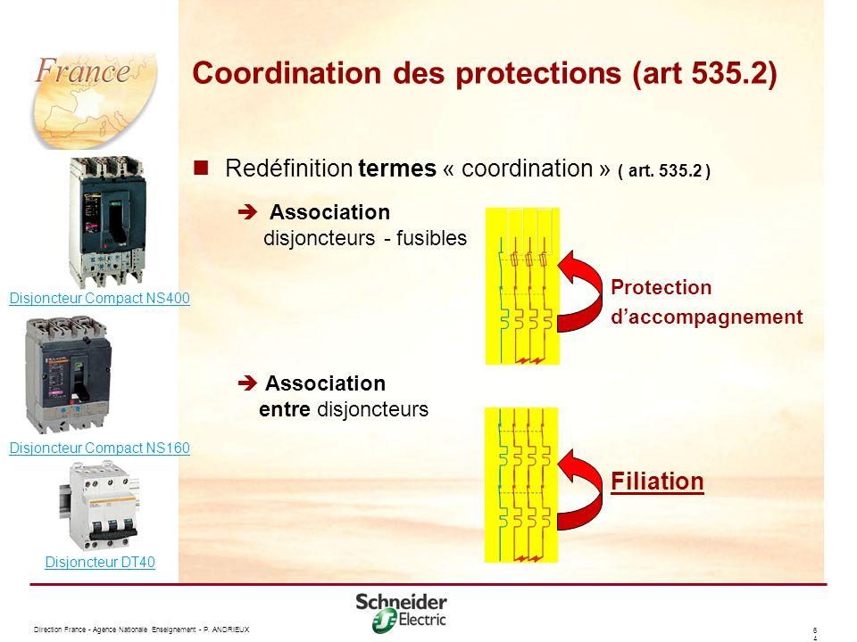 Coordination des protections (art 535.2)