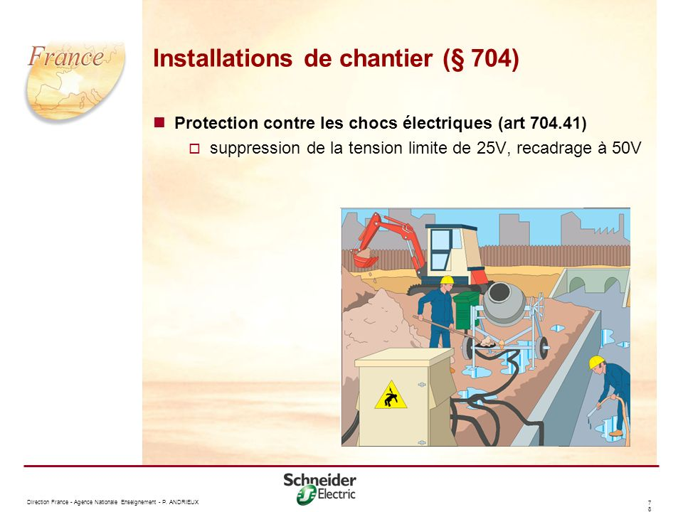 Installations de chantier (§ 704)