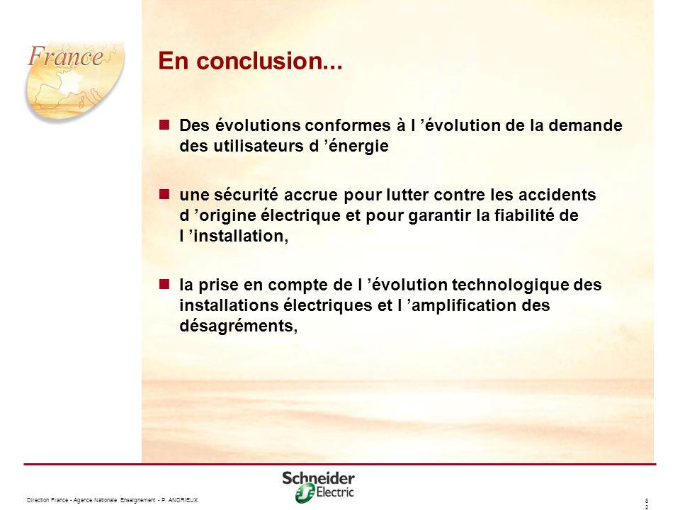 En conclusion... Des évolutions conformes à l 'évolution de la demande des utilisateurs d 'énergie.