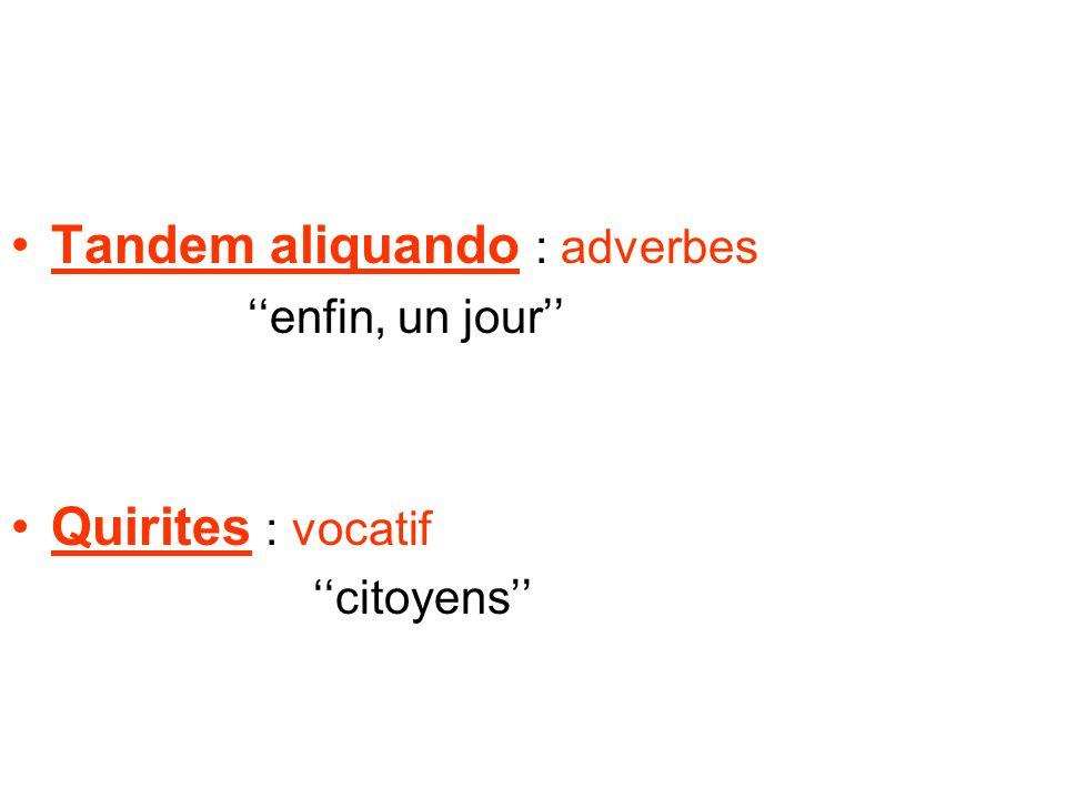 Tandem aliquando : adverbes