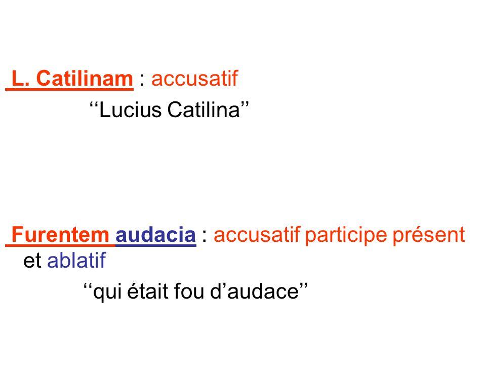 L. Catilinam : accusatif