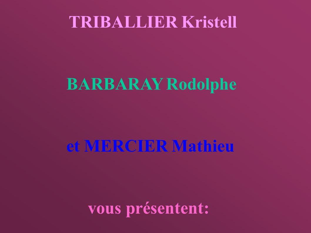 BARBARAY Rodolphe et MERCIER Mathieu vous présentent: