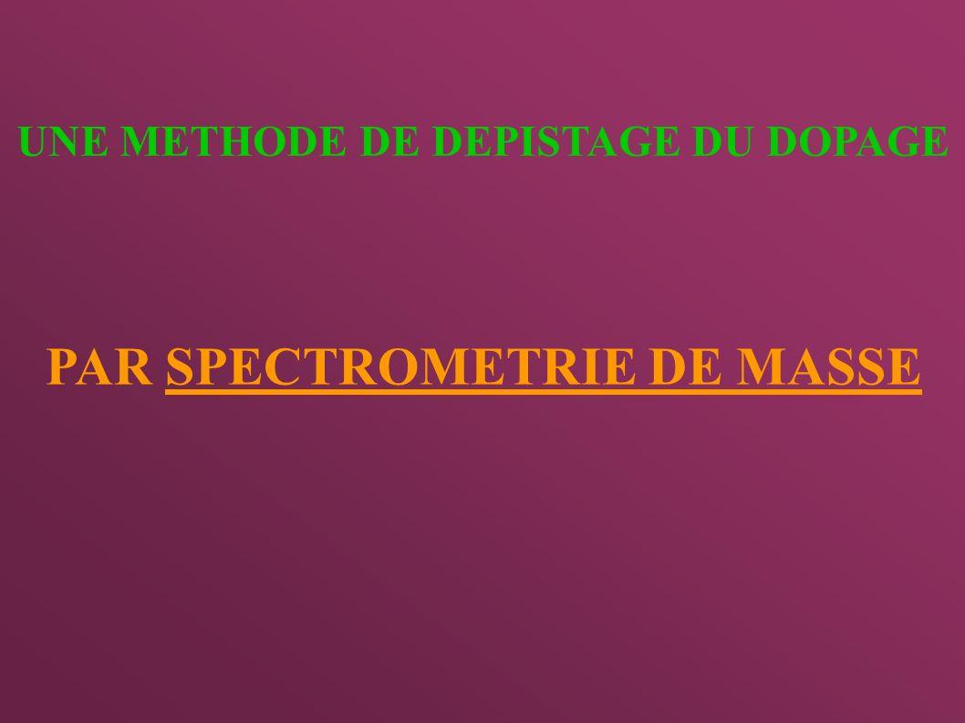 PAR SPECTROMETRIE DE MASSE