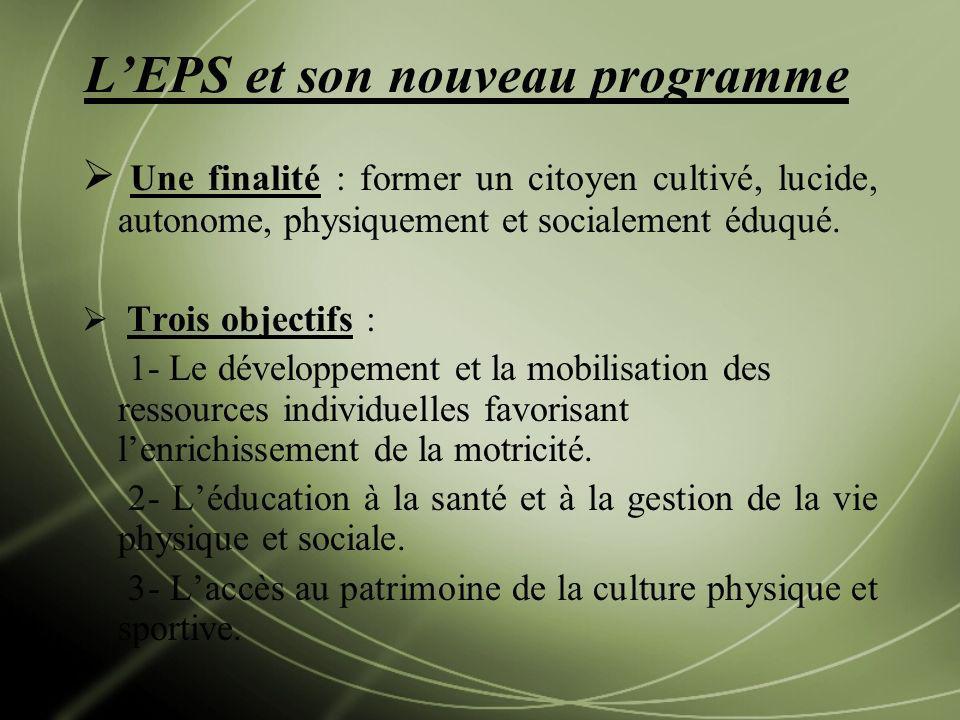 L'EPS et son nouveau programme