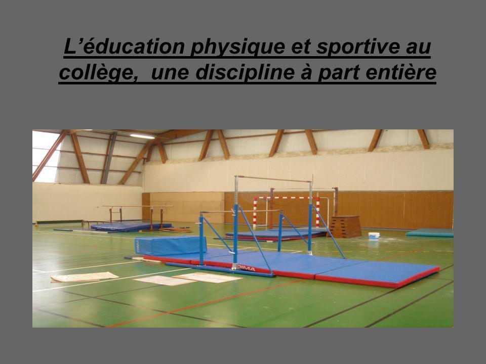 L'éducation physique et sportive au collège, une discipline à part entière