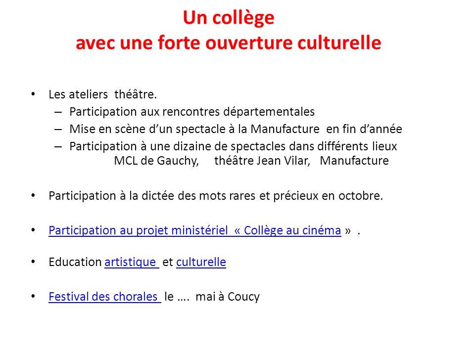 Un collège avec une forte ouverture culturelle