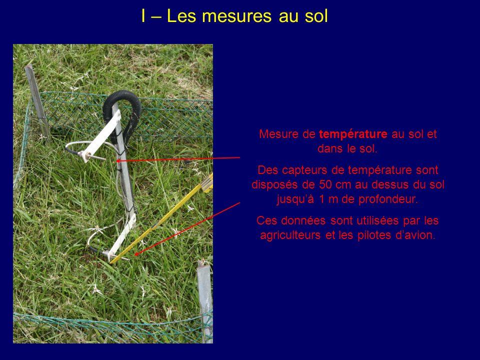 Mesure de température au sol et dans le sol.