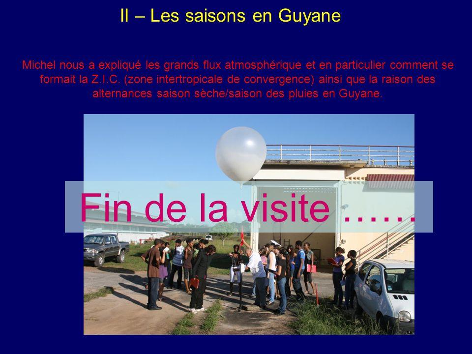 II – Les saisons en Guyane