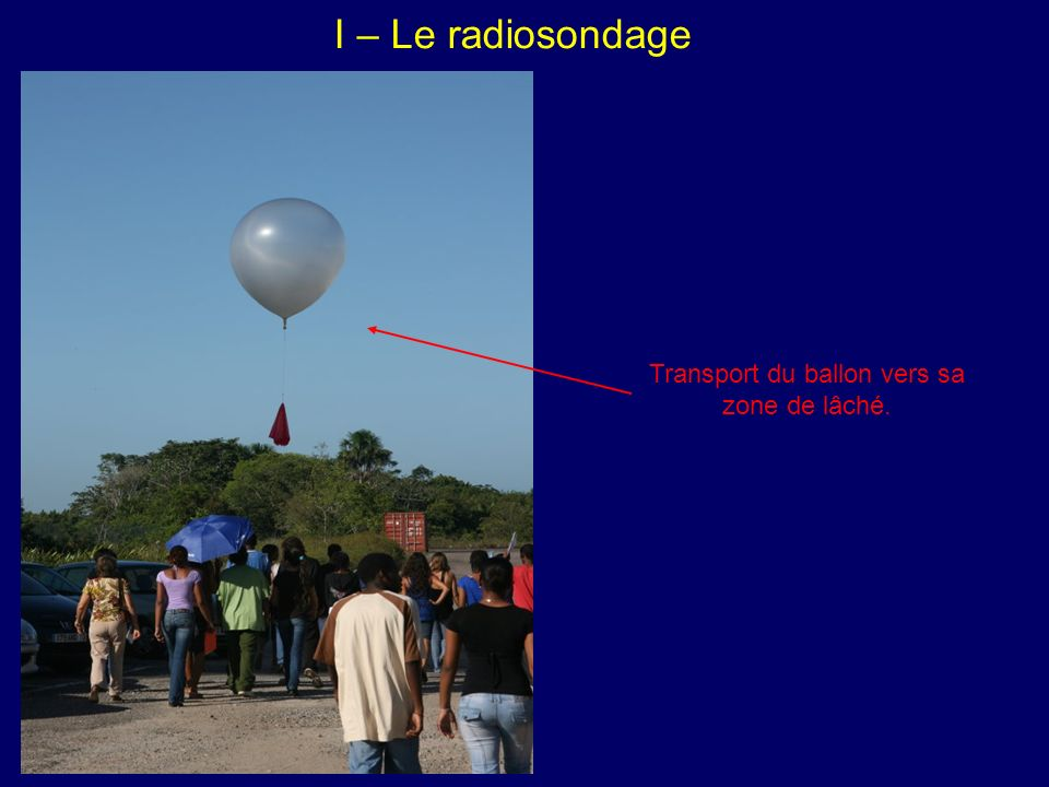 Transport du ballon vers sa zone de lâché.