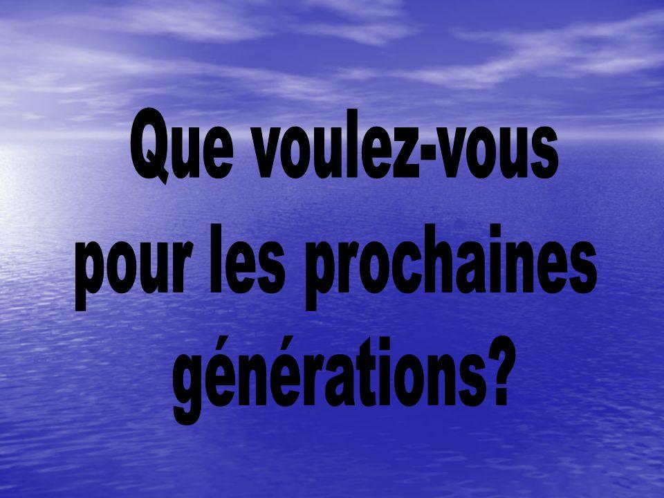 Que voulez-vous pour les prochaines générations