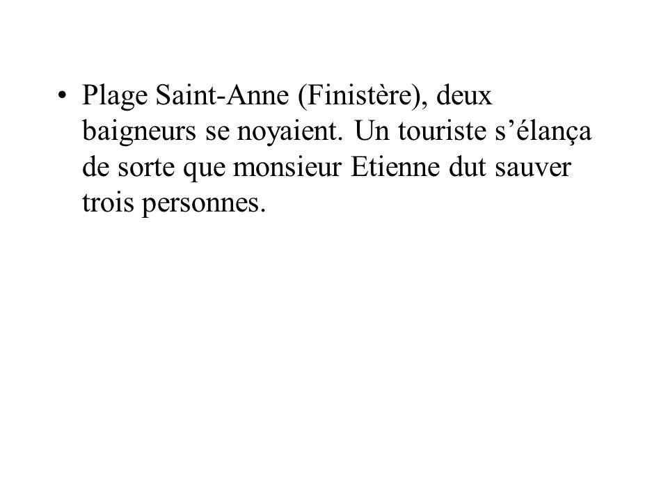 Plage Saint-Anne (Finistère), deux baigneurs se noyaient