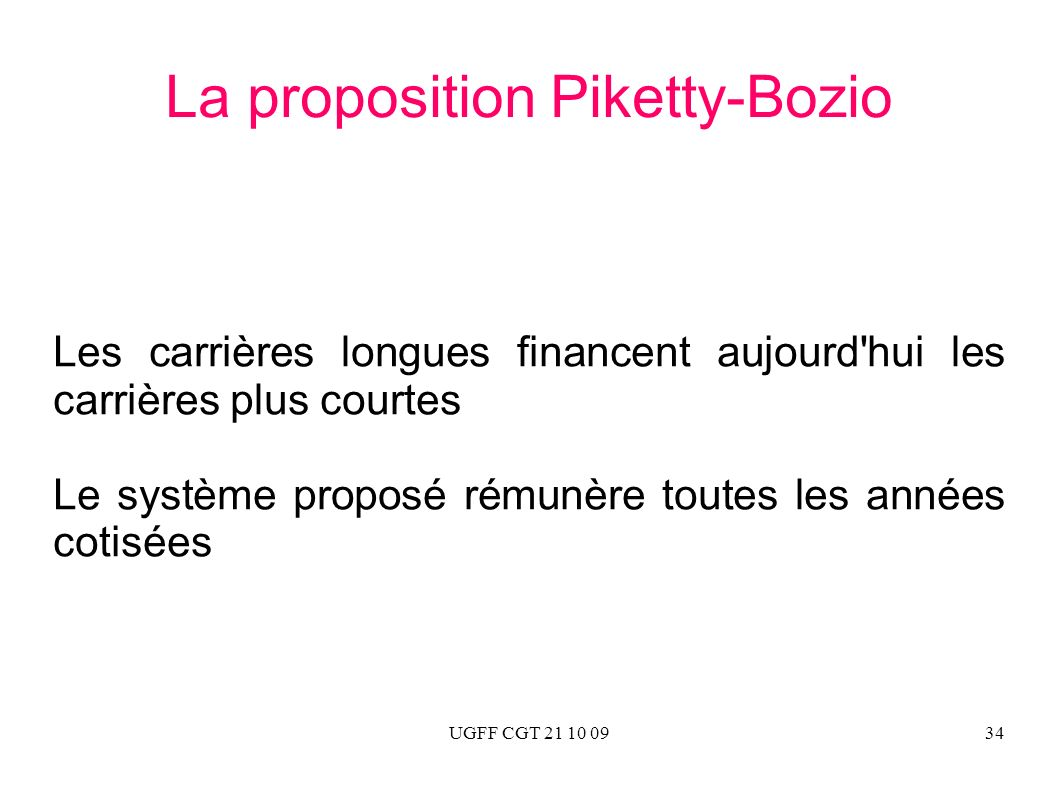 La proposition Piketty-Bozio