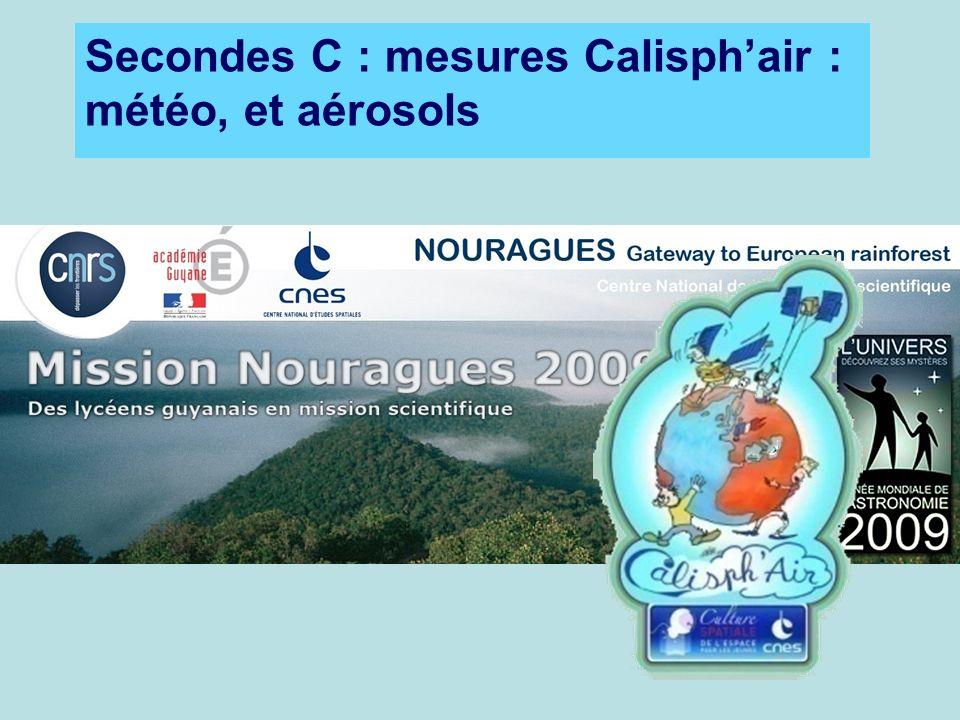 Secondes C : mesures Calisph'air : météo, et aérosols