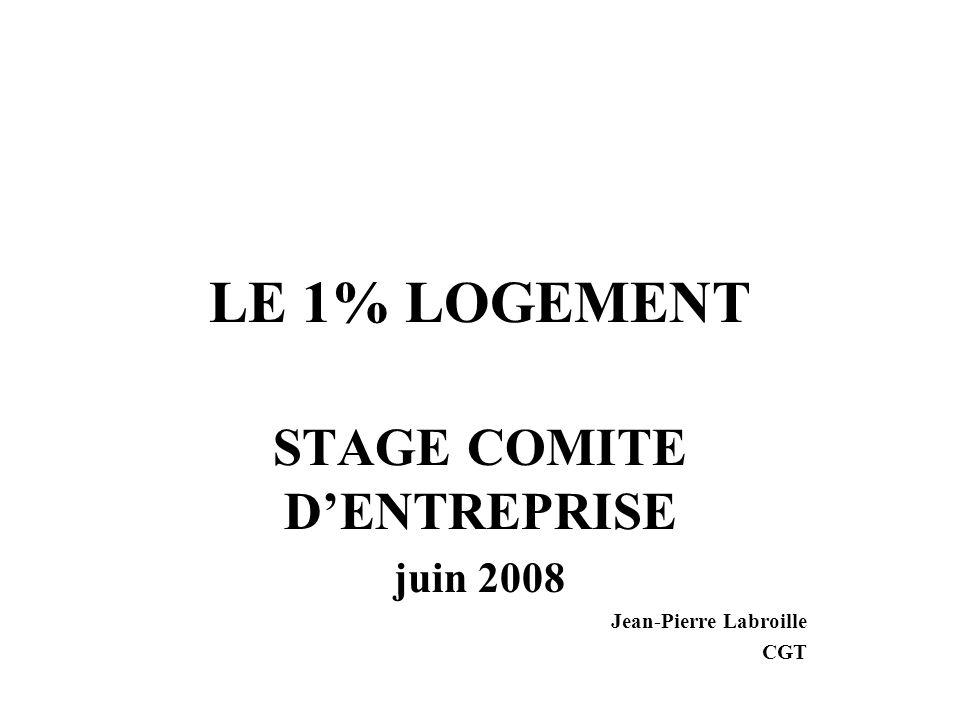 STAGE COMITE D'ENTREPRISE juin 2008 Jean-Pierre Labroille CGT
