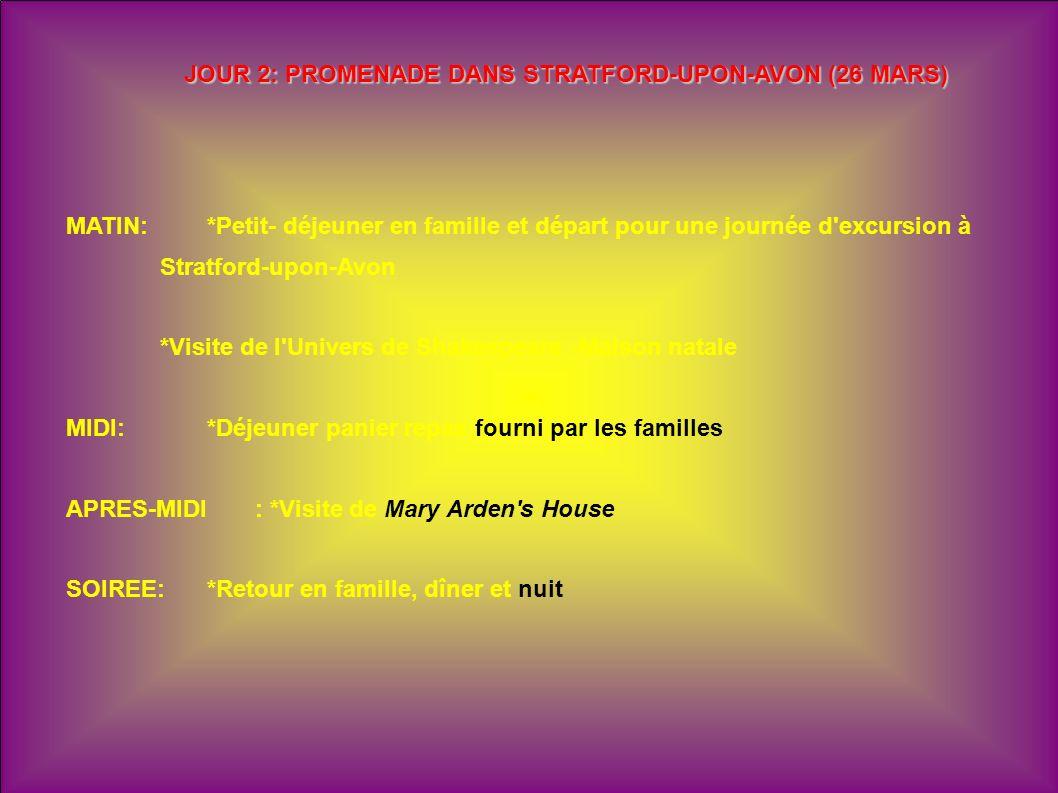JOUR 2: PROMENADE DANS STRATFORD-UPON-AVON (26 MARS)