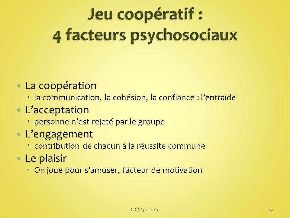 Jeu coopératif : 4 facteurs psychosociaux
