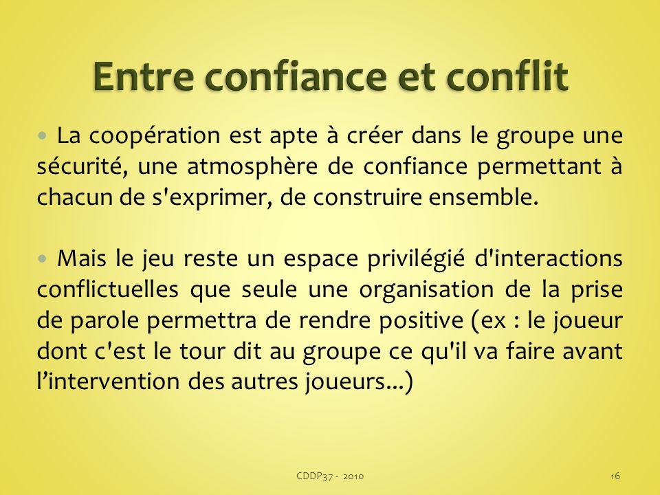 Entre confiance et conflit
