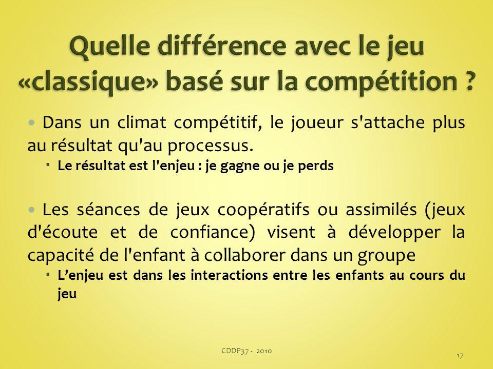 Quelle différence avec le jeu «classique» basé sur la compétition