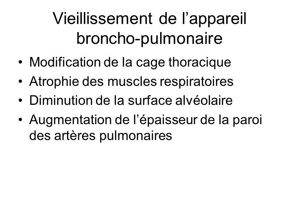 Vieillissement de l'appareil broncho-pulmonaire