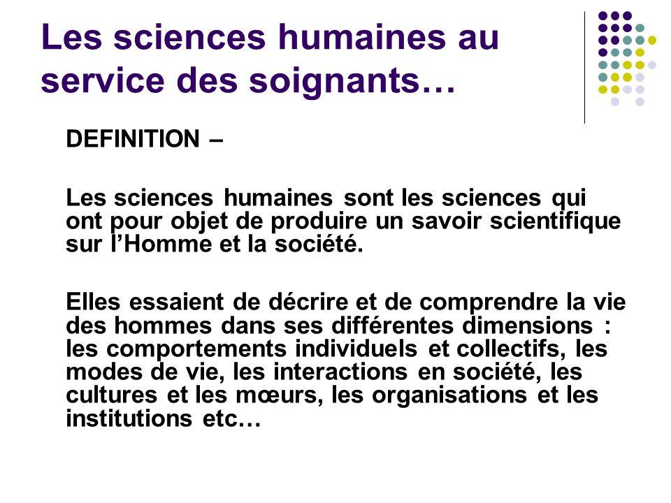 Les sciences humaines au service des soignants…