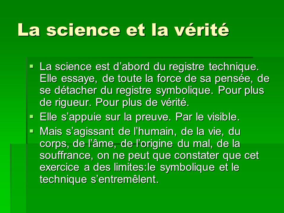 La science et la vérité