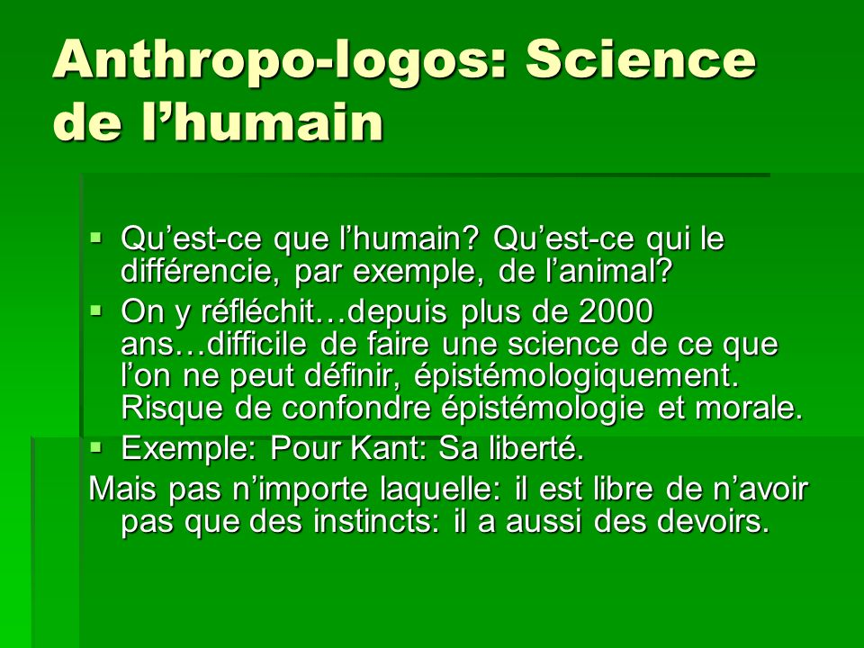 Anthropo-logos: Science de l'humain