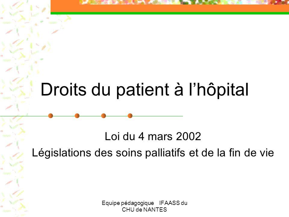 Droits du patient à l'hôpital