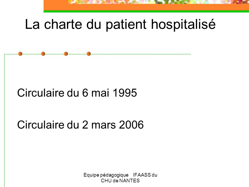 La charte du patient hospitalisé