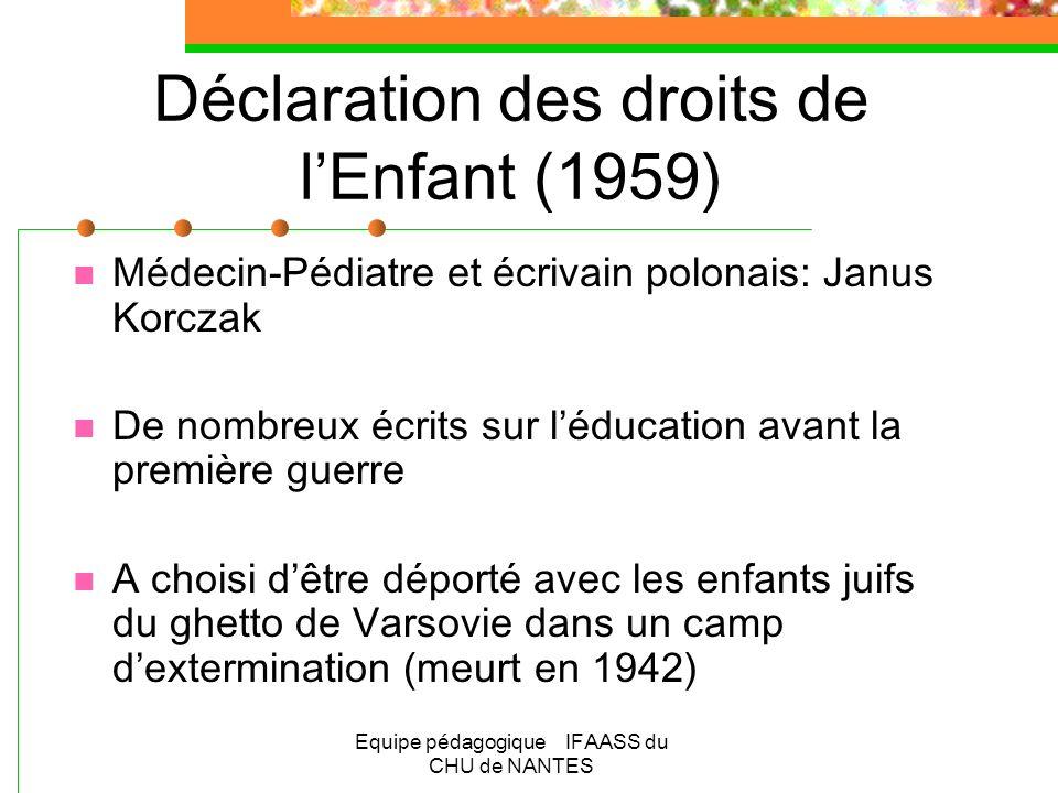 Déclaration des droits de l'Enfant (1959)