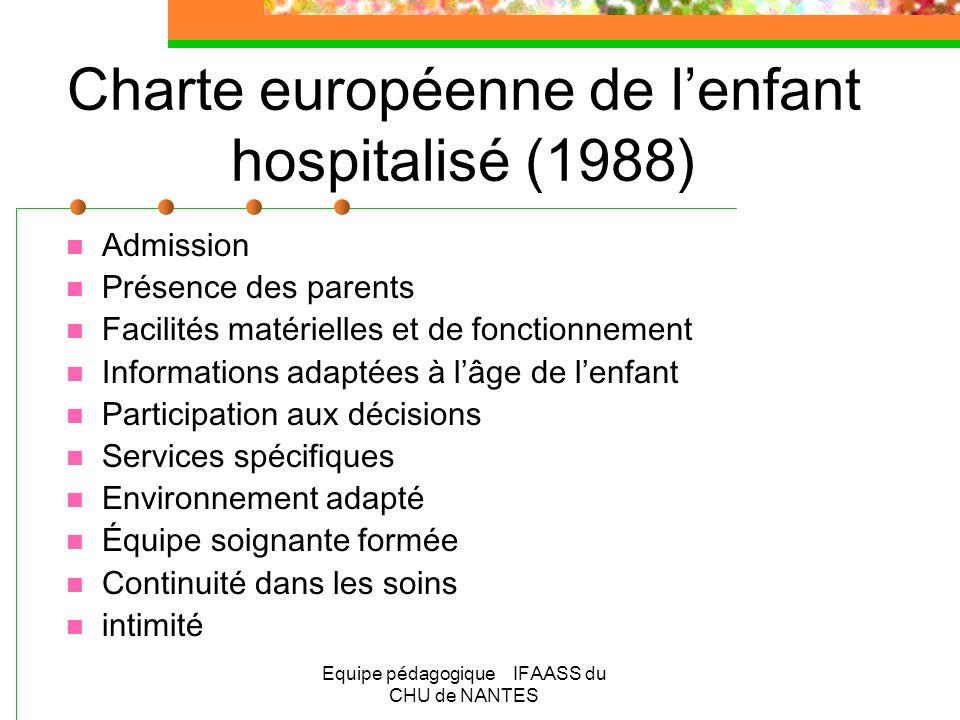 Charte européenne de l'enfant hospitalisé (1988)