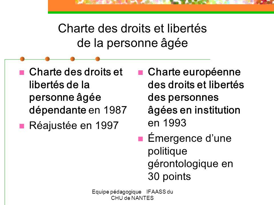 Charte des droits et libertés de la personne âgée