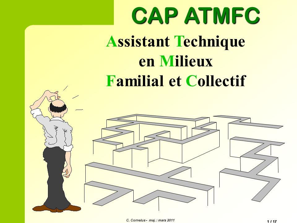 CAP ATMFC Assistant Technique en Milieux Familial et Collectif