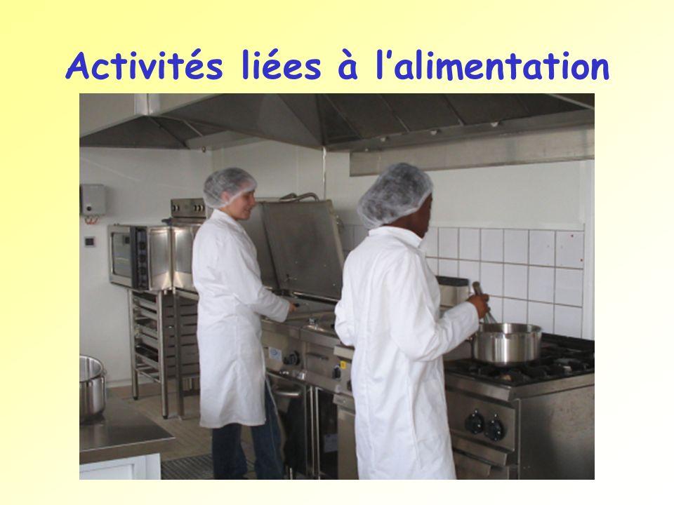 Activités liées à l'alimentation