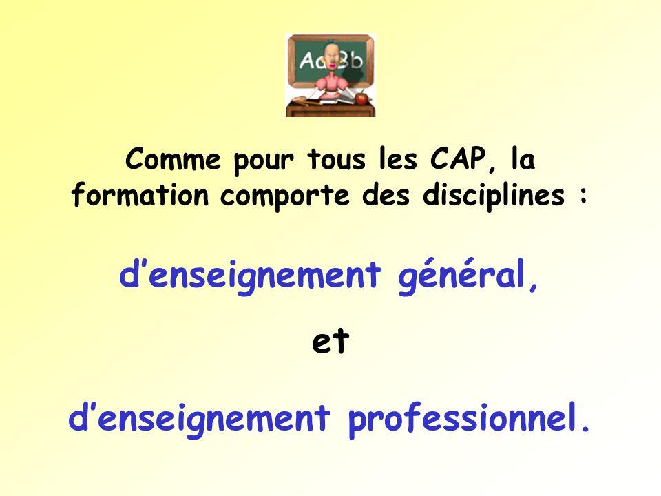 d'enseignement général, et d'enseignement professionnel.