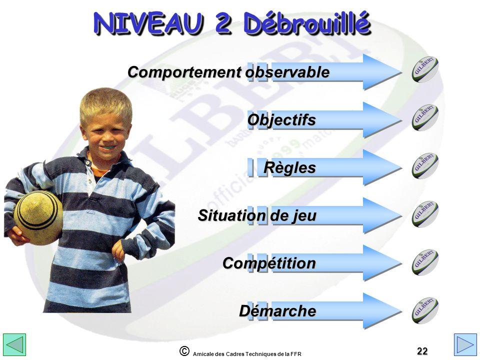 NIVEAU 2 Débrouillé Comportement observable Objectifs Règles