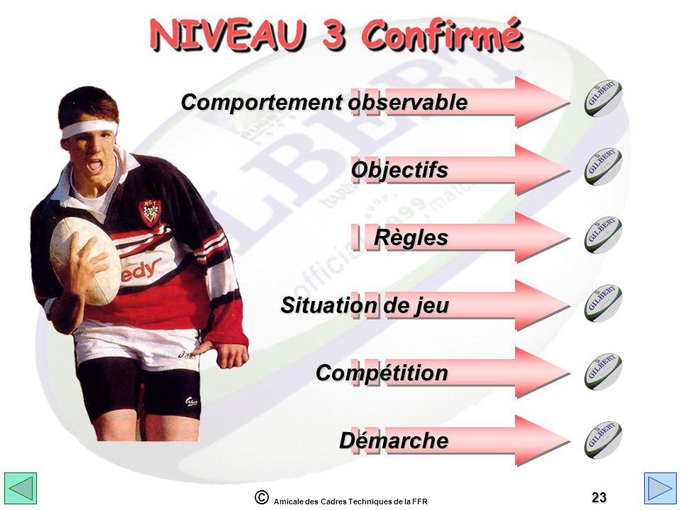 NIVEAU 3 Confirmé Comportement observable Objectifs Règles