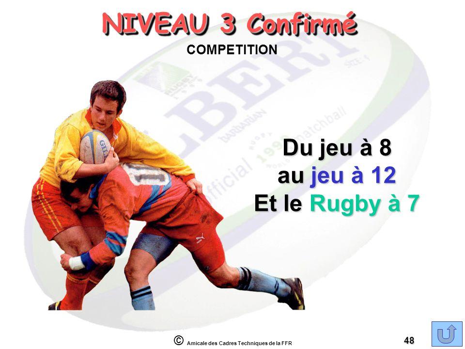 NIVEAU 3 Confirmé COMPETITION Du jeu à 8 au jeu à 12 Et le Rugby à 7