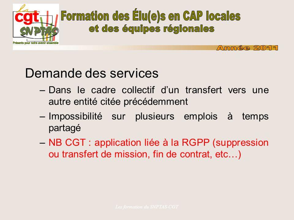 Les formation du SNPTAS-CGT