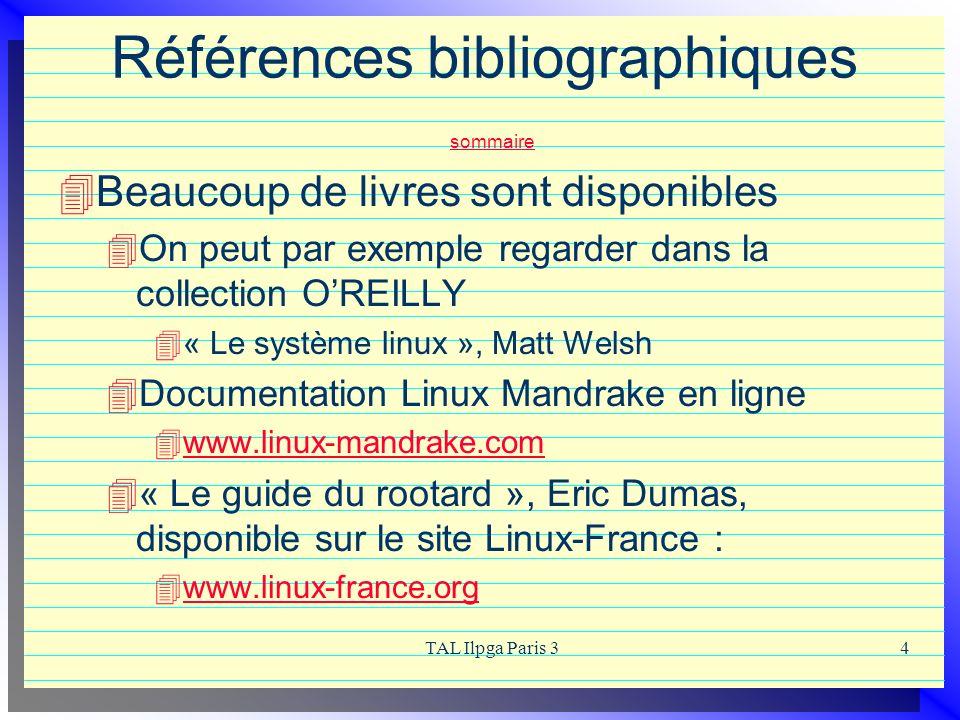 Références bibliographiques sommaire