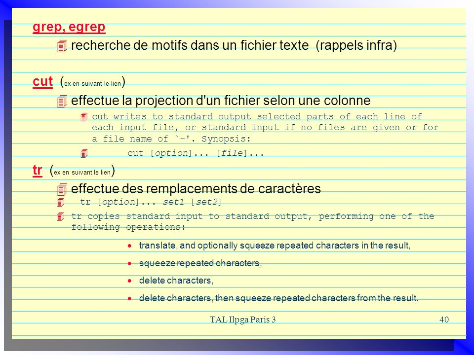 recherche de motifs dans un fichier texte (rappels infra)