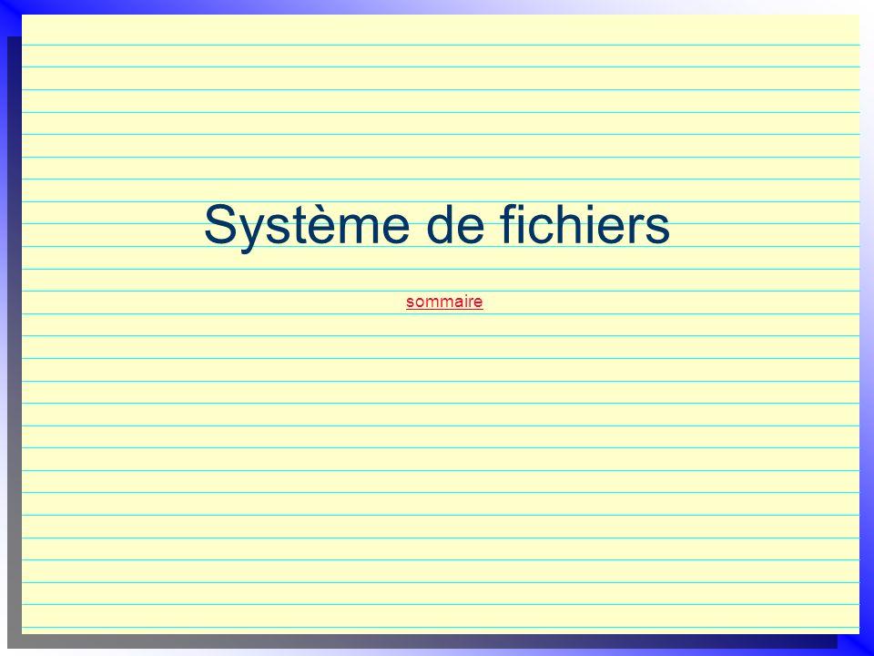Système de fichiers sommaire