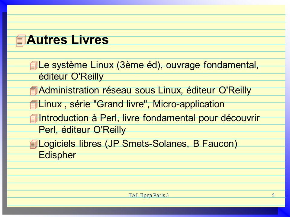 Autres Livres Le système Linux (3ème éd), ouvrage fondamental, éditeur O Reilly. Administration réseau sous Linux, éditeur O Reilly.